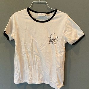 Embroidered Ringer Tee